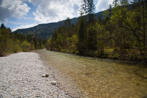 A stretch of river Jachen in Upper Bavaria